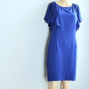 Flutter-Sleeve Ruffle Dress
